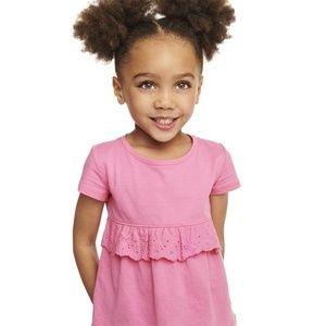 Toddler Girl Eyelet Ruffle Top